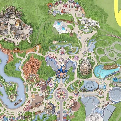 Map Of California Adventure Disneyland Disneyland Map on