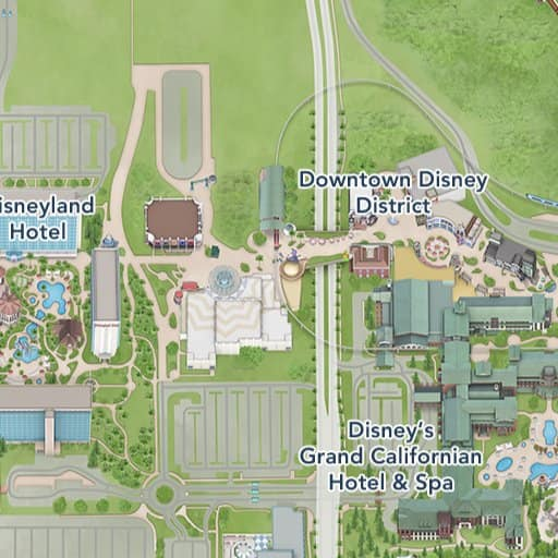 Maps of Entertainment | Disneyland Resort Downtown Disney Hotel Map on