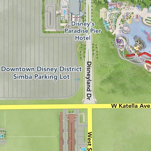 Maps of Attractions | Disneyland Resort Downtown Disney Ca Map on