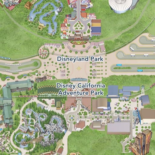 Map Of California Disney.Maps Of Attractions Disneyland Resort