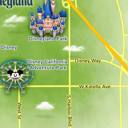 Map Of California Disneyland.Maps Of Attractions Disneyland Resort