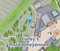 Map of Disney's Hotel Cheyenne