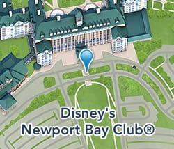 Map of Disney's Newport Bay Club