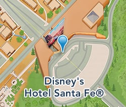 Map of Disney's Hotel Santa Fe