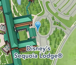 Map of Disney's Sequoia Lodge