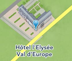Map of Hôtel l'Elysée Val d'Europe