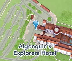 Map of Algonquin's Explorers Hotel