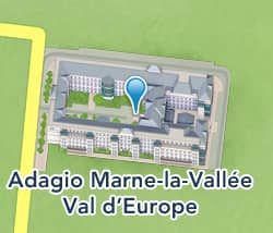 details.resorts.iframe.map.titleAdagio Marne-la-Vallée Val d'Europe