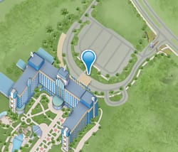 Map of Disney's Hollywood Hotel