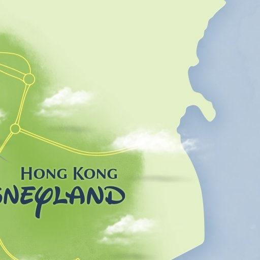 Maps Attractions Hong Kong Disneyland Resort