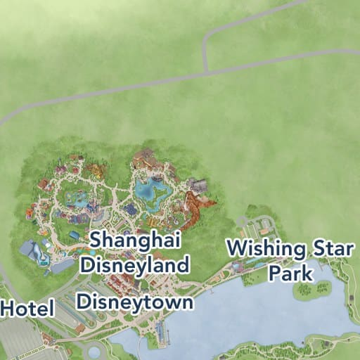 Shanghai Disney Resort Map Shanghai Disney Resort