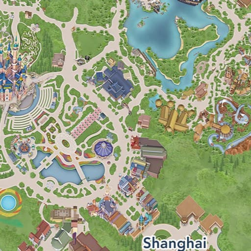 Shanghai Disney Resort Map | Shanghai Disney Resort on