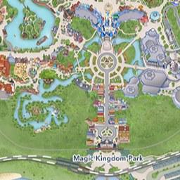Maps of Attractions | Walt Disney World Resort Majic Kingdom Map on
