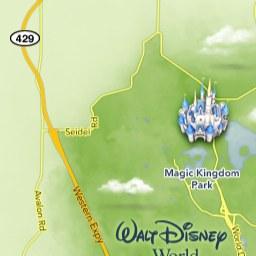Maps of Attractions | Walt Disney World Resort Disney Parks Map on