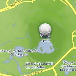 Maps of Attractions | Walt Disney World Resort Caribbean Resort Disney World Map on